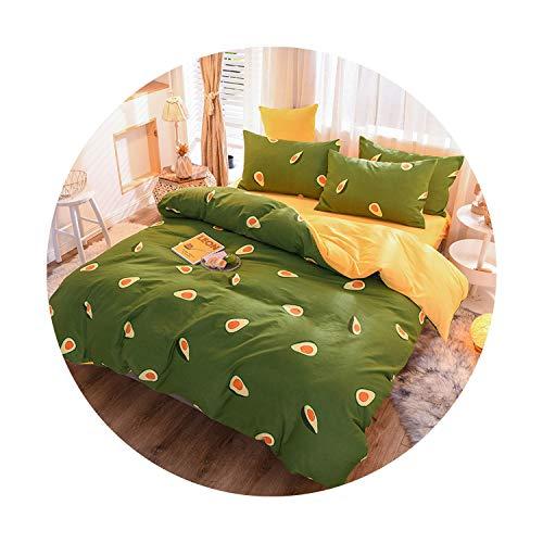 sunshine-xj 3pcs4pcs Cotton Bedding Sets Coral Fleece Duvet Cover Flat Sheet Pillowcase Winter Warm Flannel Bed Set Kids Bedding Sets18for 2M Bed-4pcBed Sheet