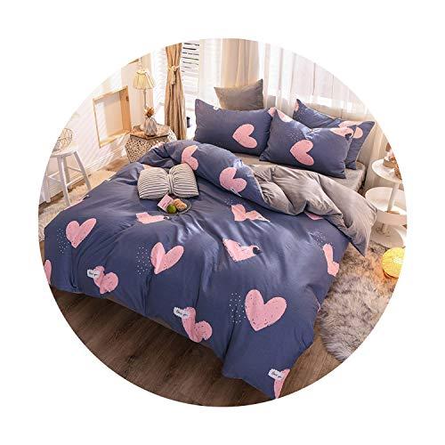 sunshine-xj 3pcs4pcs Cotton Bedding Sets Coral Fleece Duvet Cover Flat Sheet Pillowcase Winter Warm Flannel Bed Set Kids Bedding Sets22for 2M Bed-4pcBed Sheet
