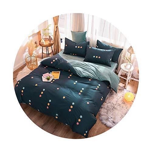 sunshine-xj 3pcs4pcs Cotton Bedding Sets Coral Fleece Duvet Cover Flat Sheet Pillowcase Winter Warm Flannel Bed Set Kids Bedding Sets23for 2M Bed-4pcBed Sheet