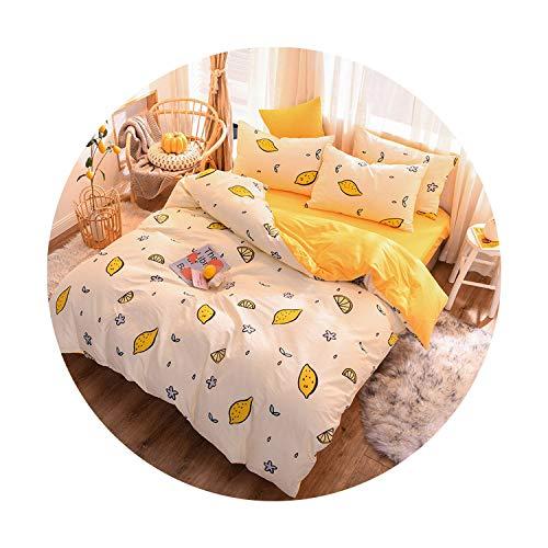 sunshine-xj 3pcs4pcs Cotton Bedding Sets Coral Fleece Duvet Cover Flat Sheet Pillowcase Winter Warm Flannel Bed Set Kids Bedding Sets3for 12M Bed-3pcBed Sheet