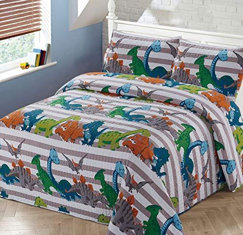 Better Home Style Dinosaur Dinosaurs Jurassic Park World KidsBoysToddler Coverlet Bedspread Quilt Set with Pillowcases  2018319 QueenFull
