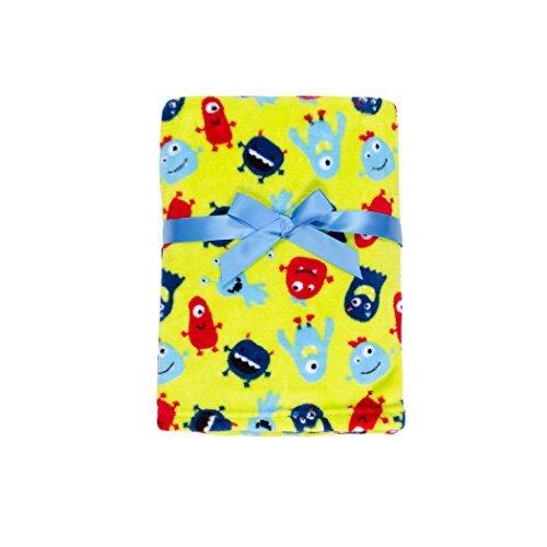 Baby Gear Plush Velboa Ultra Soft Baby Boys Blanket 30 x 40 Little Monster Buddies by Baby Gear