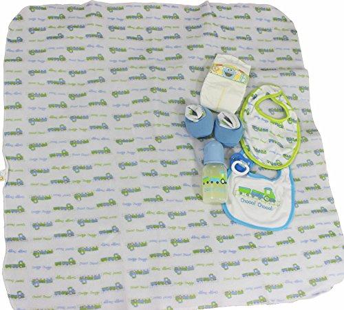 Reborn Baby Dolls OOAK Boy Blanket Bootie Bibs Putty Pacifier Diaper Bottle Set