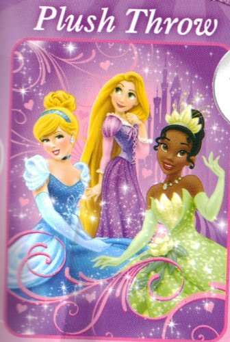 Disney Princess Plush Throw Blanket Cinderella Tiana Rapunzel Tangled