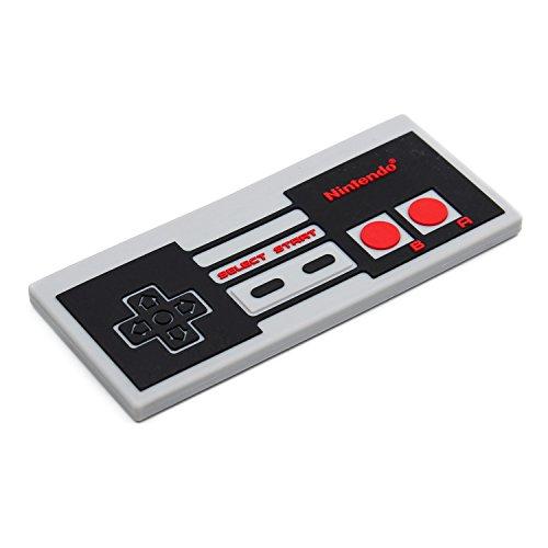 Bumkins Nintendo Silicone Teether Textured Soft Flexible Bacteria Resistant - NES Controller
