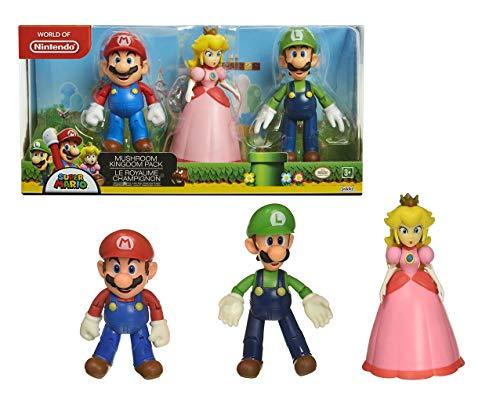 Nintendo Super Mario Mushroom Kingdom Diorama Figure 3-Pack