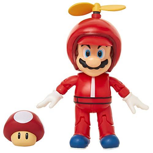 World of Nintendo 4 Propeller Mario Action Figure with Coin Action Figure