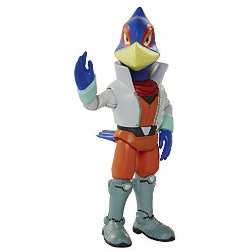 World of Nintendo Star Fox Falco Lombardi Action Figure 4 Inches