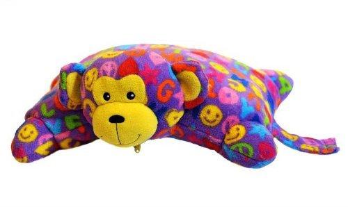 Beeposh Ricky Monkey Fleece Pillow Pet By Melissa and Doug