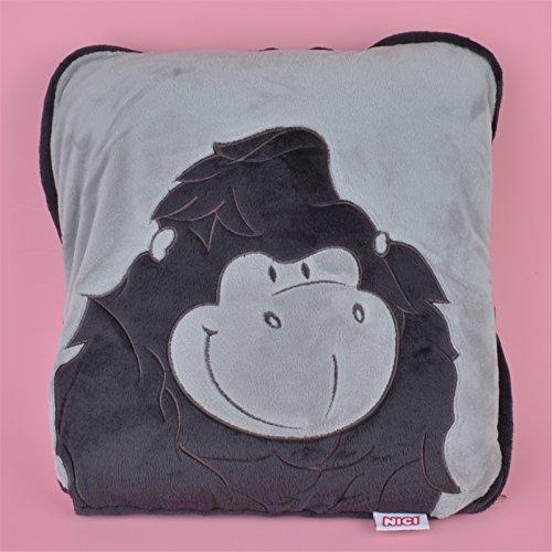 Orangutan Soft Cartoon Blankets 2 in 1 Multi-funcation Fleece Pillow Quilt Gift