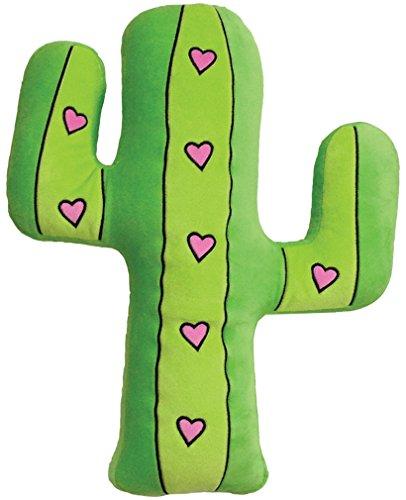 iscream Valentine Hearts Embroidered Cactus Fleece Microbead Pillow