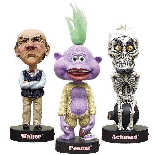 Jeff Dunhams Talking Bobblehead Toys Set of 3 - Peanut Achmed Walter