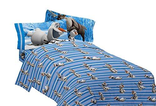 Disney Frozen Olaf Made From Snow Microfiber Sheet Set Twin