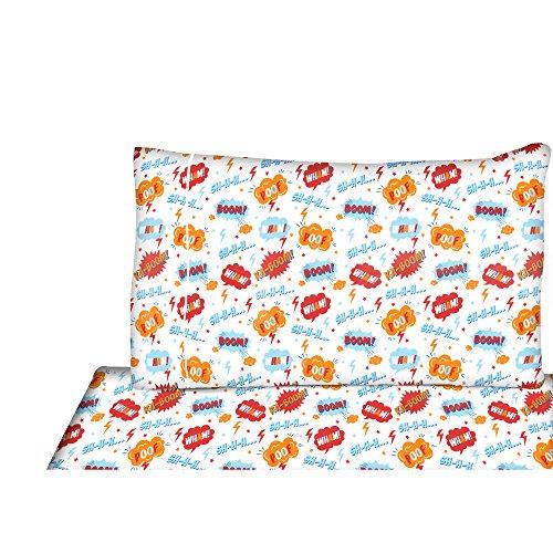 FullDouble Sheets Set Kids - Microfiber Sheet Set Comic Theme