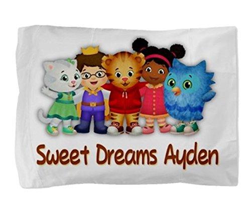 Daniel The Tiger Dan Personalized Pillowcase Kids Childs Toddler Boy Girl Pillow Case Bedding Bedroom Decor
