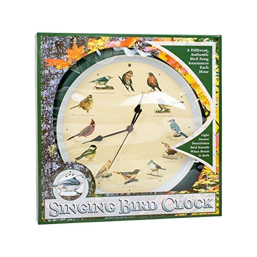 Mark Feldstein and Associates DLB023GR Original Singing Bird Clock 13 in Green