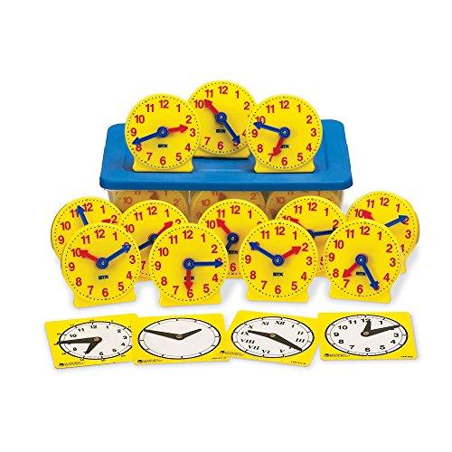 hand2mind Geared Clocks Classroom Kit Set of 24