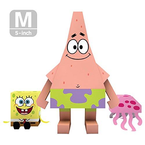 MOMOT Paper Craft Toy - SPONGEBOB PATRICK STAR 5-inch M Size 13cm