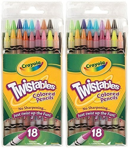 Crayola 18ct Twistables Colored Pencils 2 Pack