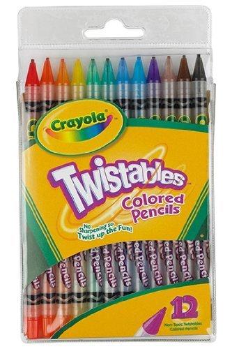 Crayola 68-7408 Twistables Colored Pencils 12 Count