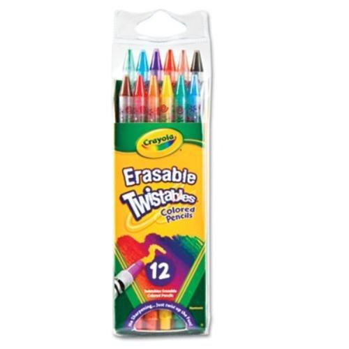Crayola Erasable Twistables Colored Pencil 12 per Pack - 24 Packs per case