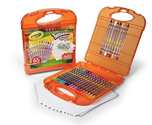Crayola Twistables Colored Pencils Kit  25 Twistables Colored Pencils and 40 sheets of paper