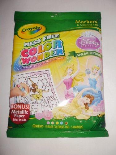 Crayola Color Wonder Limited Edition Disney Princess Incl Coloring Book Markers by Hallmark