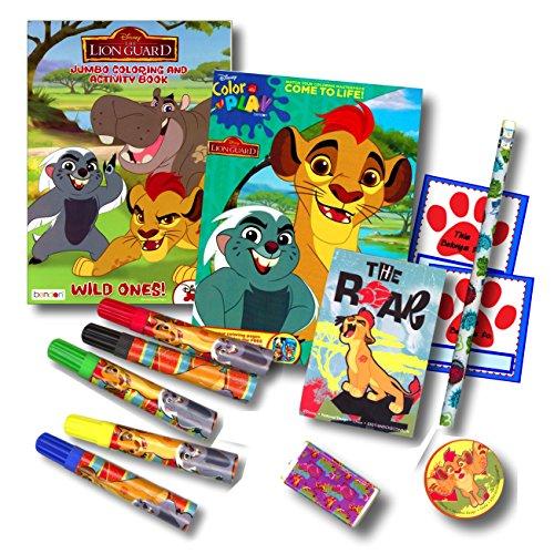 Lion Guard Coloring Book Super Set Bundle - 2 Lion Guard Coloring Books Markers Specialty Stickers More