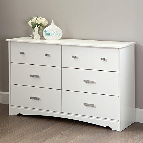 South Shore Tiara 6-Drawer Double Dresser Pure White