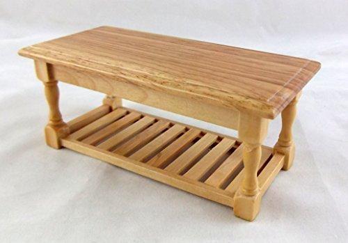 Melody Jane Dollshouses Dolls House Miniature 112 Wooden Kitchen Furniture Light Oak Refectory Table