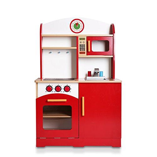 WildBird Care Wooden Kids Toy Kitchen Uptown Pretend Playsets KDK03Red