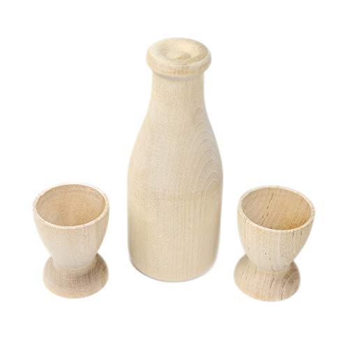 Camden Rose Good Milk Cups Childs Pretend Milk Bottle Wooden Play Food