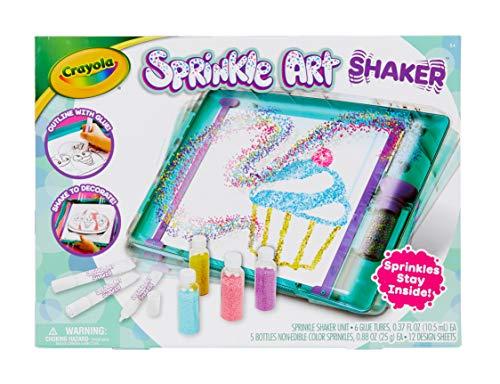 Crayola Sprinkle Art Shaker Rainbow Arts Crafts for Girls Gift Age 5 6 7 8