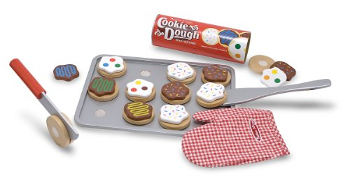 Melissa Doug Slice and Bake Wooden Cookie Play Food Set