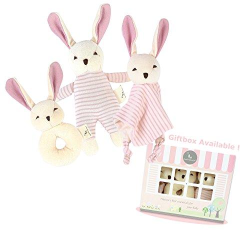 DorDor GorGor ORGANIC Bunny Plush Toy Gift Set 3 Pack