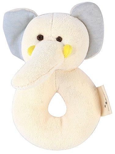 DorDor GorGor ORGANIC Plush Toy Gift Set Dye Free Natural Hue Elephant Rattle