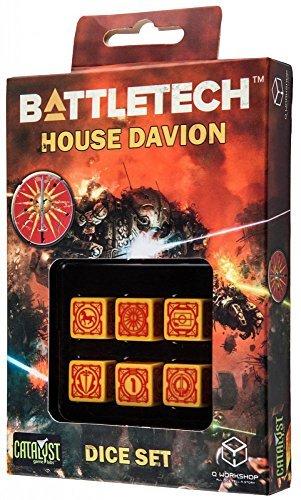 Battletech House Davion D6 Dice set 6 by Q-Workshop