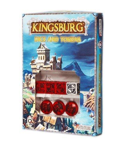 Q-Workshop Dice Set Kingsburg Dice d6 and Tokens - RED