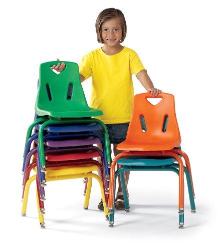 Berries Plastic Chair WPowder Coated Legs - 10 Ht - Teal - School Play Furniture