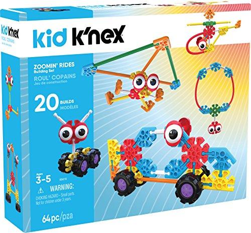 KNEX Kid KNex - Zoomin Rides Building Set - 64Piece - Ages 3 Up Preschool Educational Toy Building Set