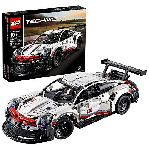 LEGO Technic Porsche 911 RSR 42096 Race Car Building Set STEM Toy for Boys and Girls Ages 10 features Porsche Model Car with Toy Engine 1580 Pieces