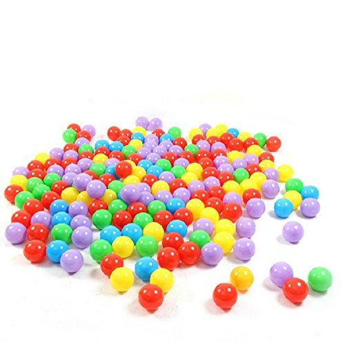 niceEshopTM Ball Pit Balls for Baby Kids 50pcs Non-Toxic Crush Proof Ocean Plastic Ball