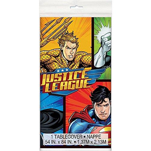 Justice League Plastic Tablecloth 84 x 54