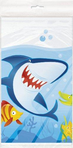 Ocean Shark Plastic Tablecloth 84 x 54