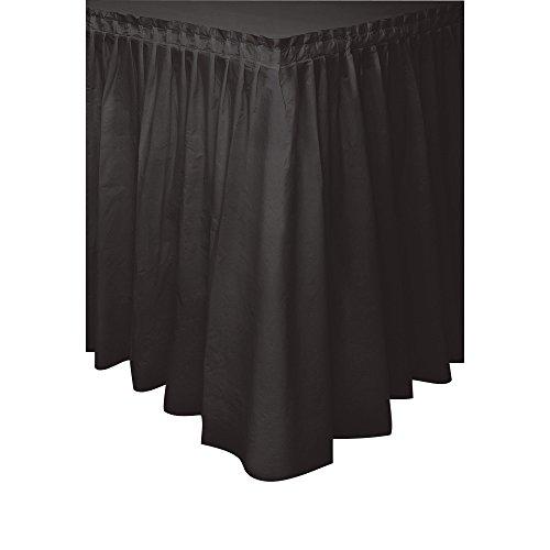 Plastic Table Skirt 14 Feet Black