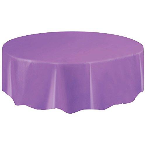Round Plastic Tablecloth 84 Purple