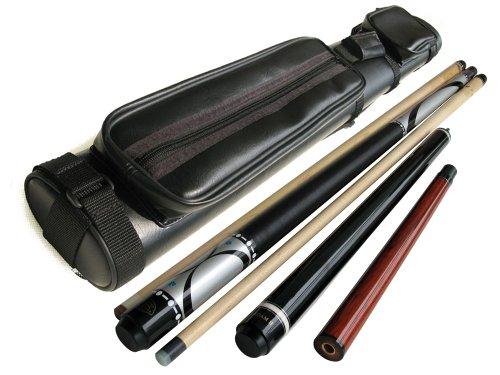 Brand New - Champion Silver Maple Pool Cue Stick20oz Gator Nemesis Jump and Break Cue 20ozblack 2x2 Case  Billiards Glove  Aim Trainer