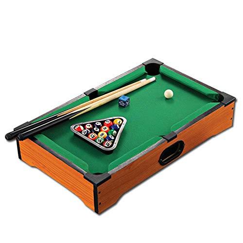 Mini Tabletop Pool Set Mini Pool Table Desktop Miniature Pool Table Set Tabletop Toy Gaming Pool-Billiard Table Balls Cues and Rack Pool Family Playing for Adults Kids Tabletop Billiards Pool