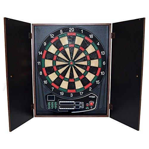 Halex Omega Electronic Dart Board and Cabinet Set by Halex