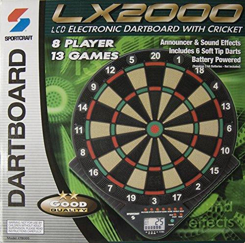 Sprotscraft Lx2000 Electronic Dartboard with Cricket
